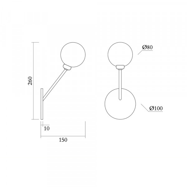 Row wall light - specifications