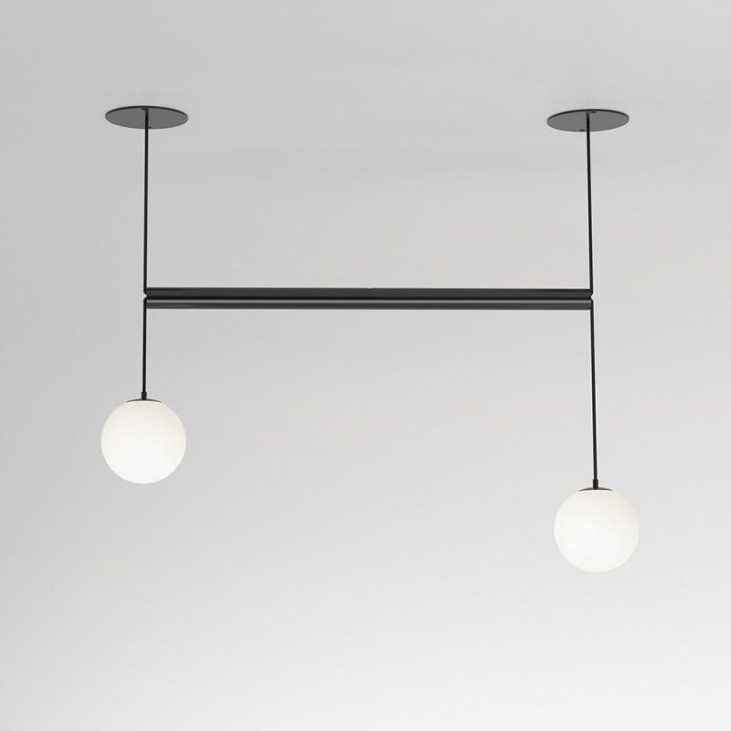 Tube With Globes Pendant Atelier Areti