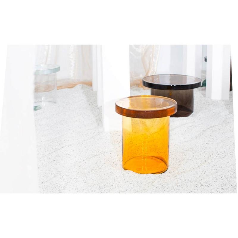 Alwa Three table by Pulpo small amber and medium grey