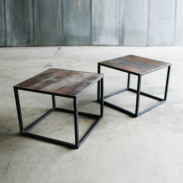 TABLE BASSE MESA LEATHER II by Heerenhuis