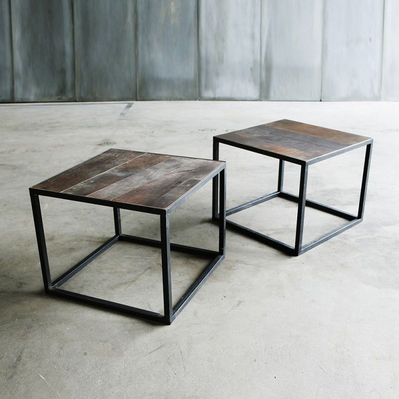 table basse mesa leather 2 by heerenhuis