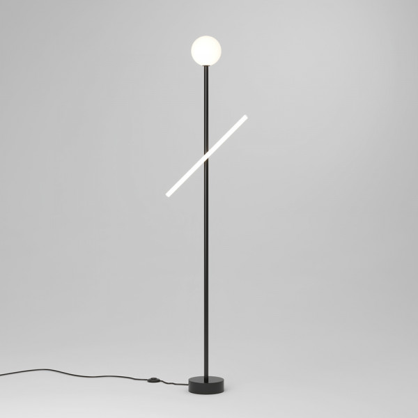 LAMPADAIRE TUBE AND GLOBE by Atelier Areti