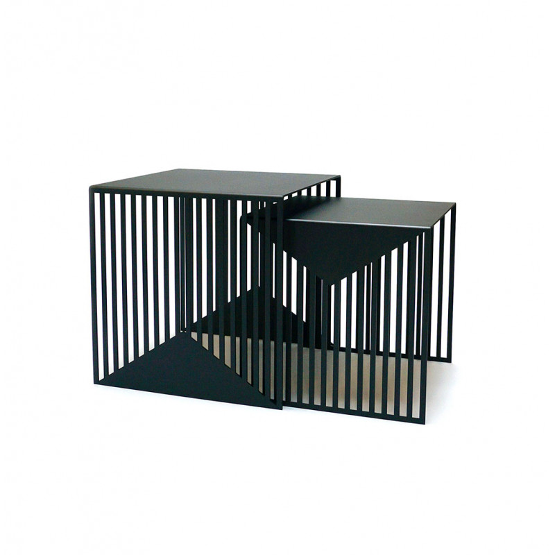 ZICK ZACK SIDE TABLE by Swedish Ninja small and large black