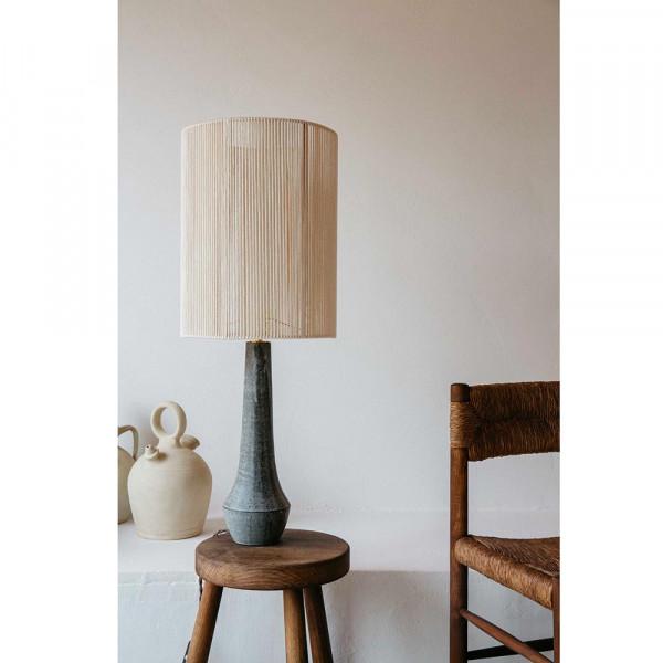 LAMPE SOLSTICE by Gres Ceramics abat jour cotton