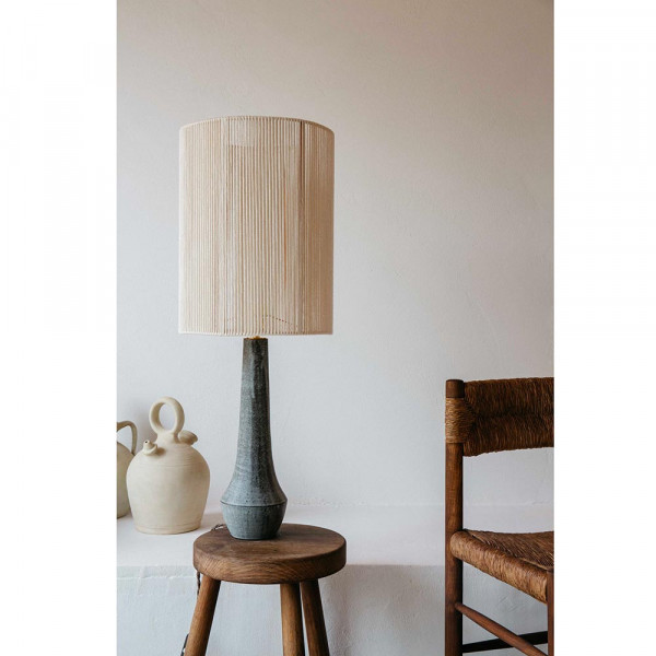 SOLSTICE TABLE LIGHT by Gres Ceramics cotton shade