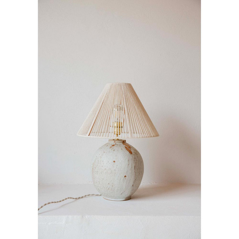 MICHELLE TABLE LIGHT by Gres Ceramics cotton