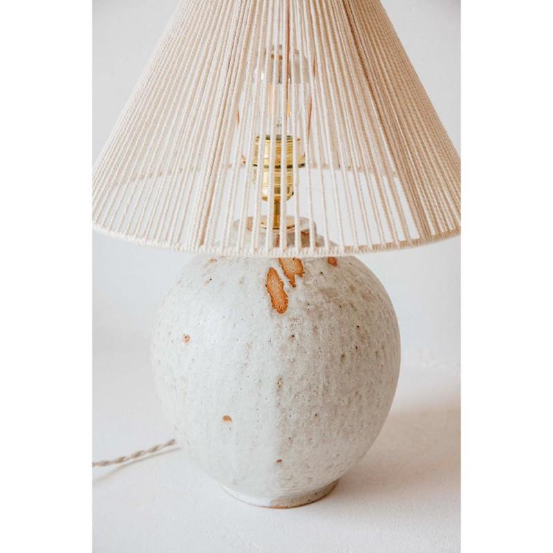 MICHELLE TABLE LIGHT by Gres Ceramics cotton détails