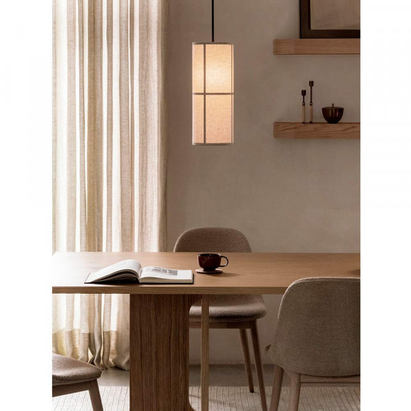 HASHIRA Pendant LIGHT by Menu raw small in the dinning room