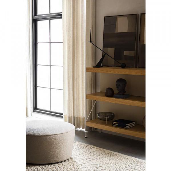 ZET SHELF by Menu H114 oak metal ivory in the living room