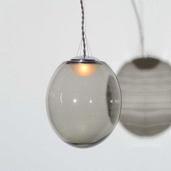 suspension verre souffle gris atelier areti