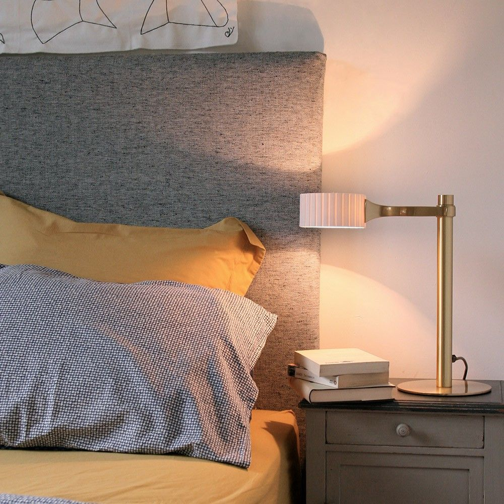 brahma table lamp in a bedroom by pedret