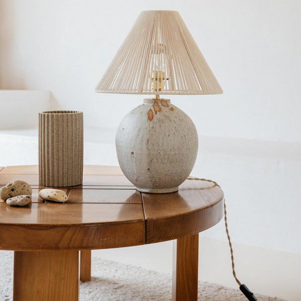 MICHELLE TABLE LIGHT by Gres Ceramics staging