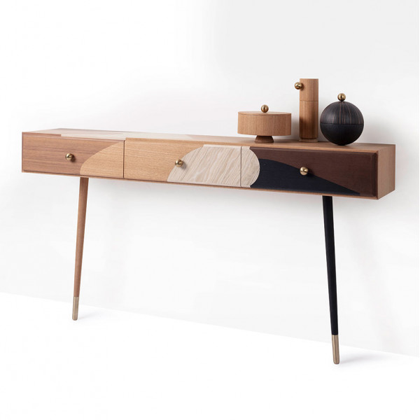 ROSE SELAVY MARQUETRY WALL CONSOLE by Maison Dada