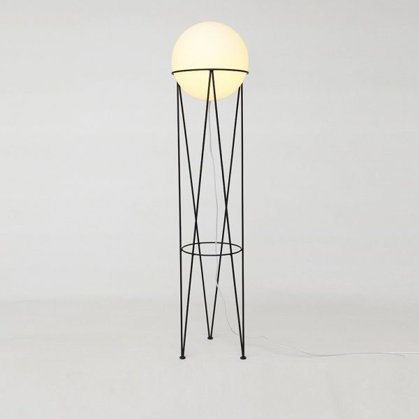 STRUCTURE & GLOBE FLOOR LIGHT by Atelier Areti
