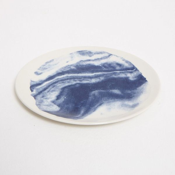 INDIGO STORM SMALL PLATE by Faye Toogood for 1882 Ltd