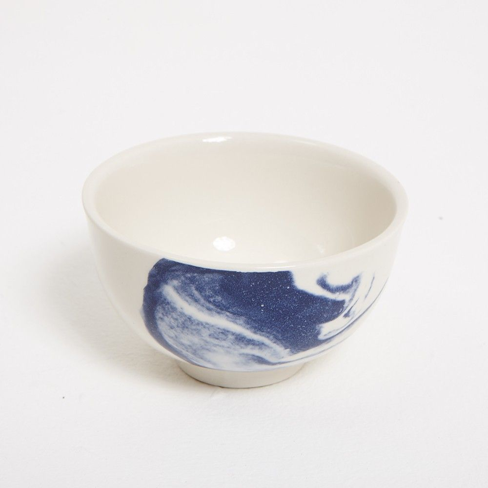 indigo storm handles cup white background by Faye toogood