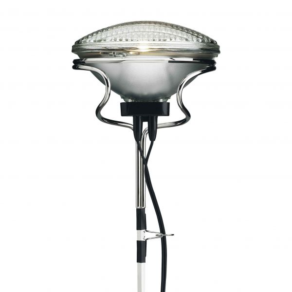 toio floor light seen from close up by flos