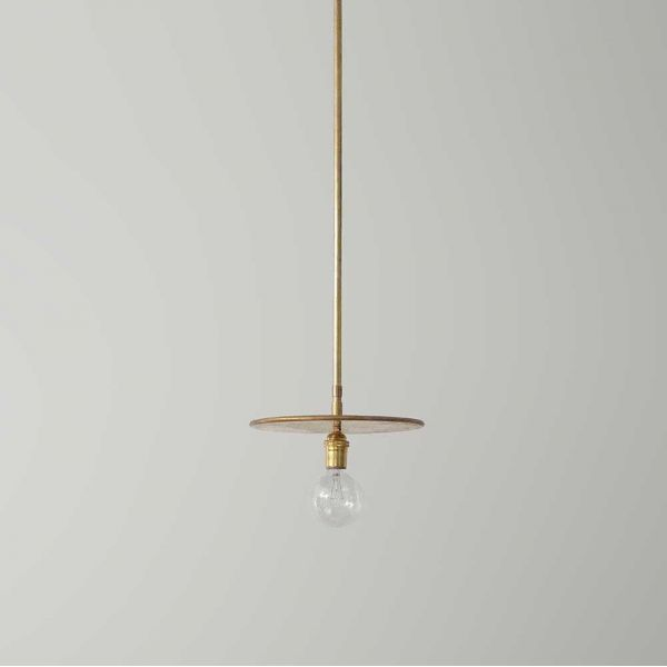 brass pendant by workstead grey background
