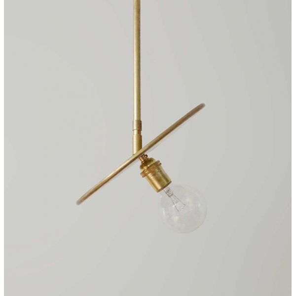brass pendant by workstead close up