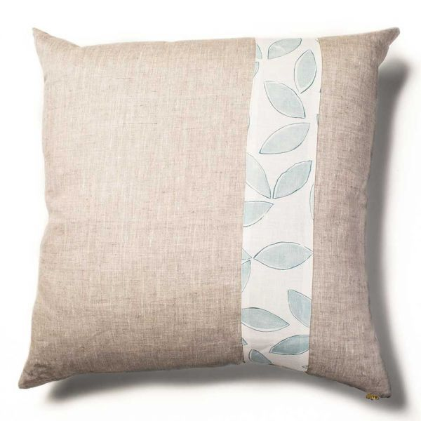 leaves cushion cover white backgroynd by rebecca atwood