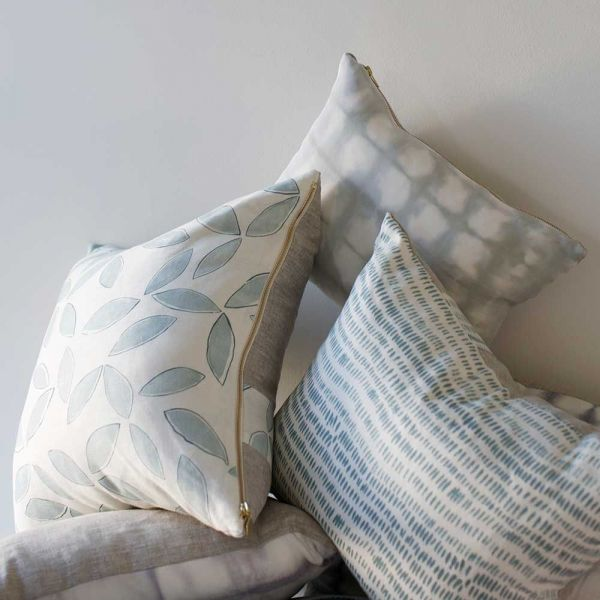 cushion cover leaves by rebecca atwood