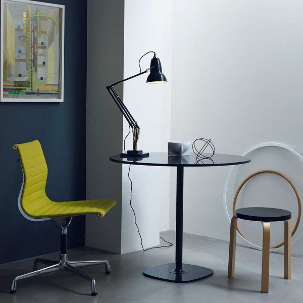 original 1227 brass table light in a room by anglepoise