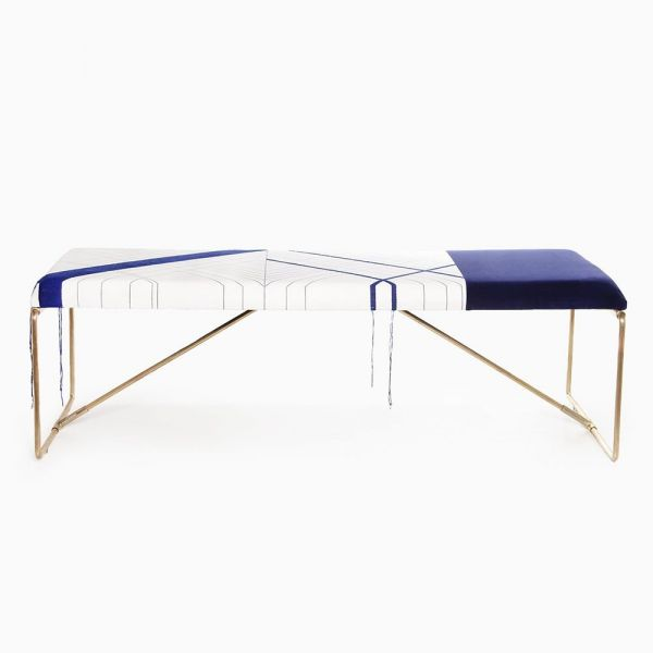 banc embroider mise en scène by rooms