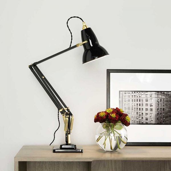 original 1227 brass table light decored by anglepoise