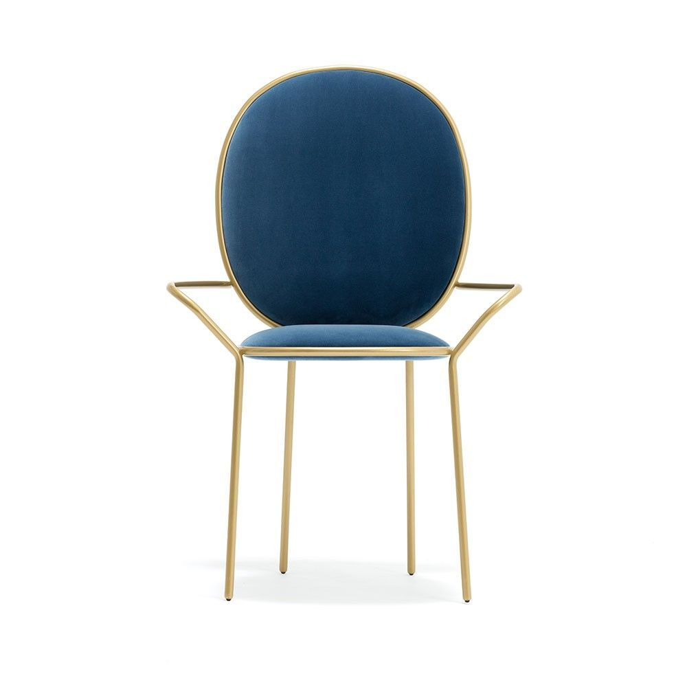 chaise stay dining armchair bleu by sé