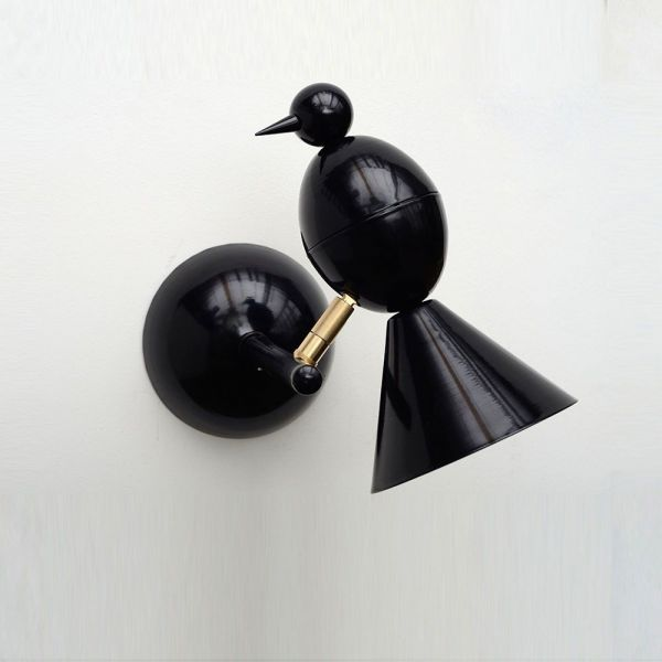 black alouette wall light