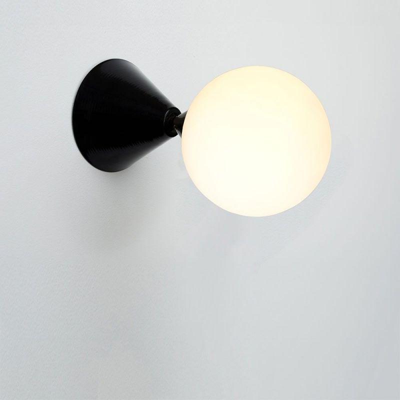 applique cone & sphere noire