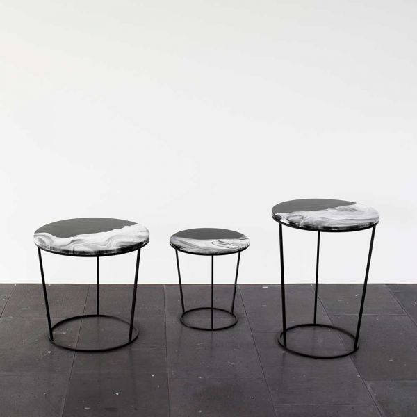 three side tables by Elisa strozyk for Pulpo
