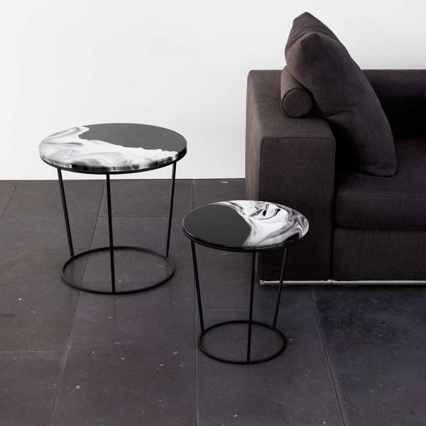 fosca side table in a sitting room by Elisa strozyk for Pulpo