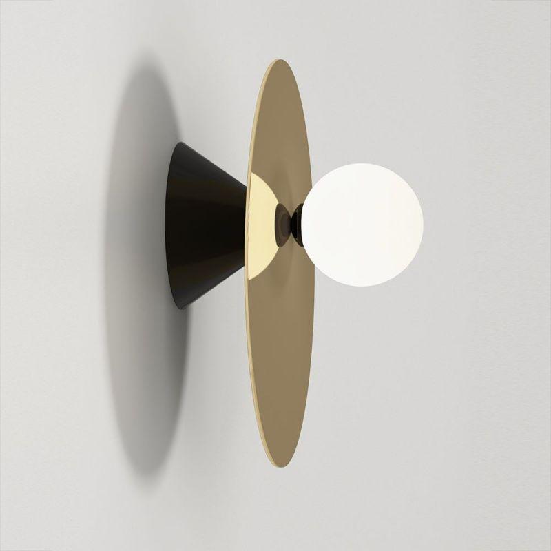 applique disc & sphere asymmetrical noire