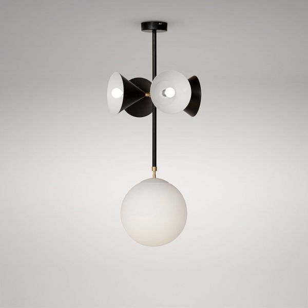 suspension axis globe and cones atelier areti couleur noir