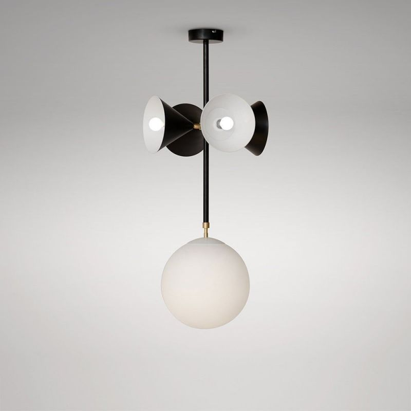 axis pendant globe and cones by  atelier areti in black