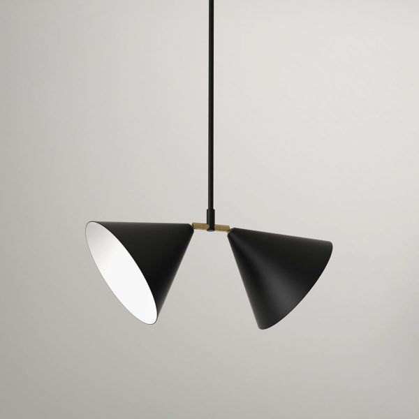 suspension double atelier areti couleur noir