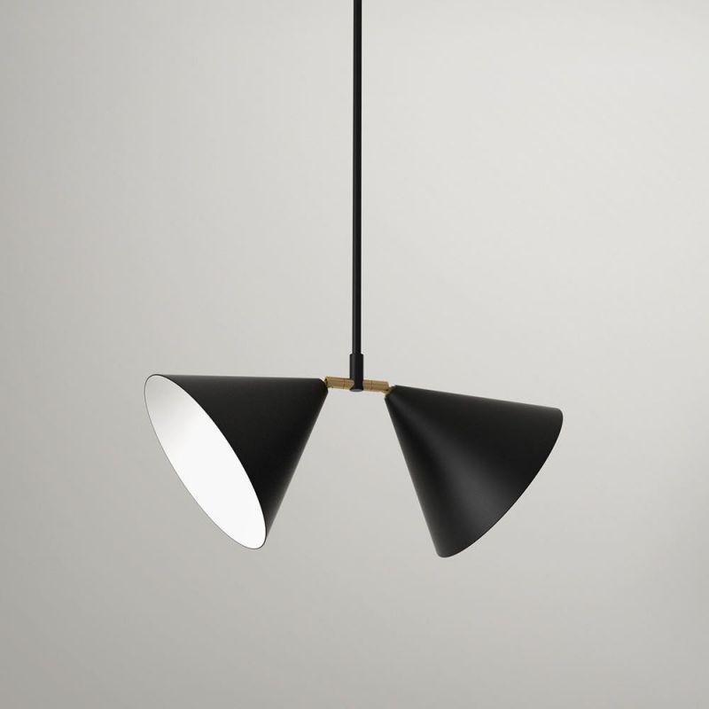 double pendant by atelier areti in black