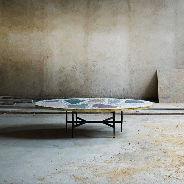 magic stone coffee table styled in an interior by rooms