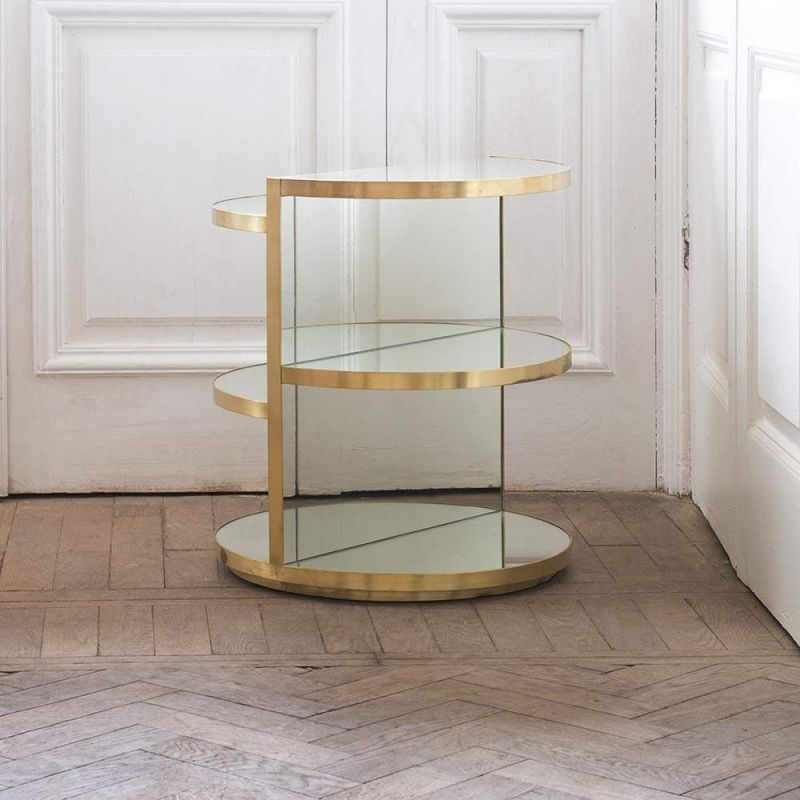 invisible sculpture brass side table by rooms