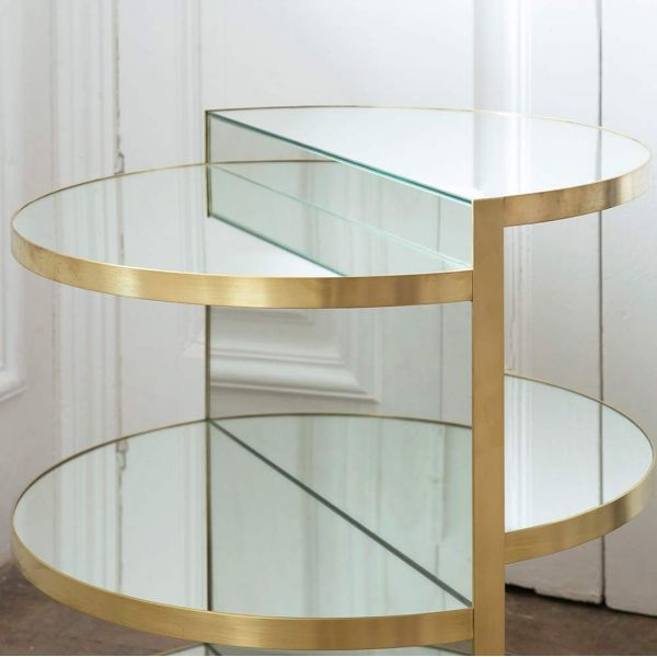 invisible sculpture brass side table white background by rooms