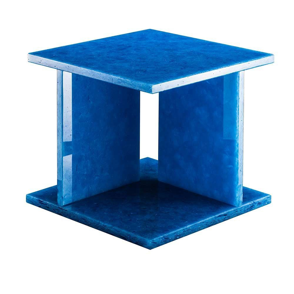 table d'appoint font bas bleu by pulpo