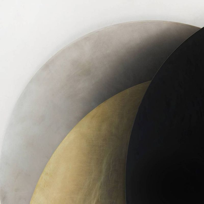 Detail of the eclipse mirror wall light by Rooms