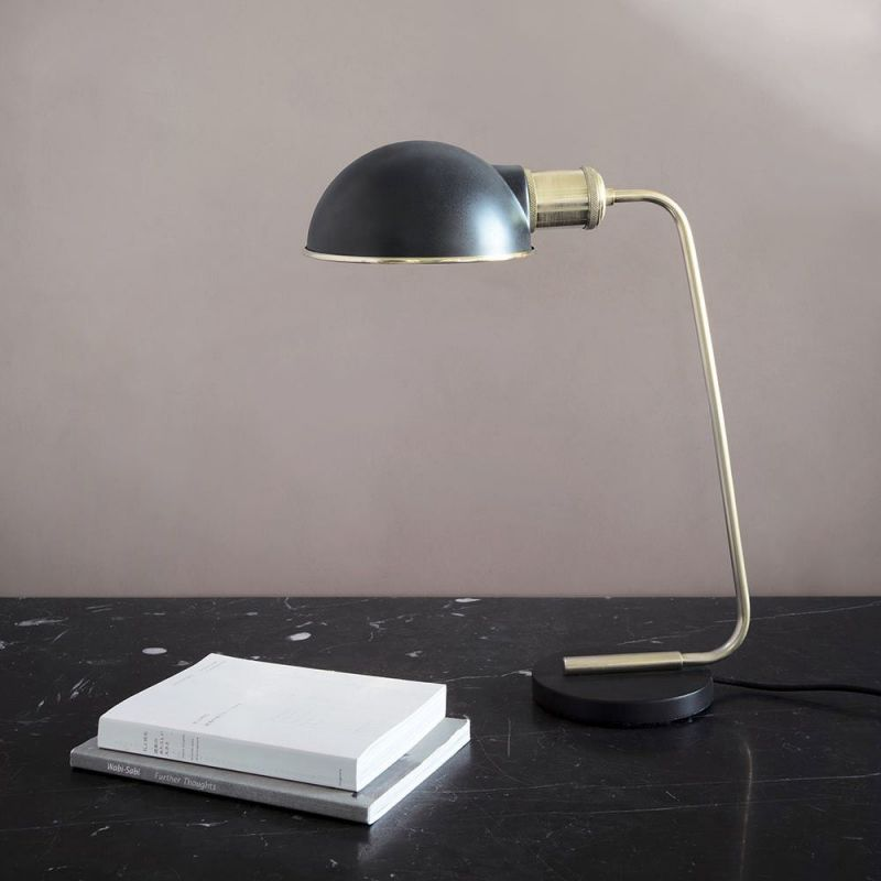 collister table light styled in an interior by menu