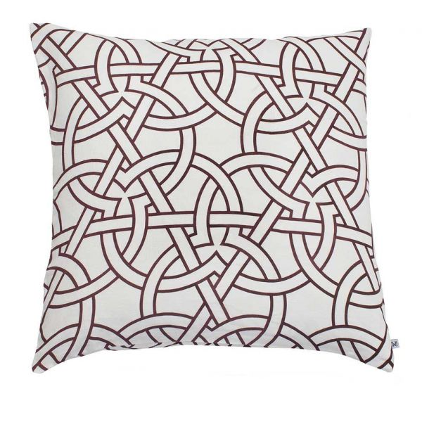 Moscow cushion by Nina kullberg aubergine