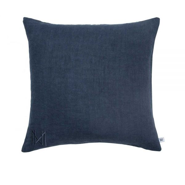 single coloured cushion by Nina kullberg  indigo