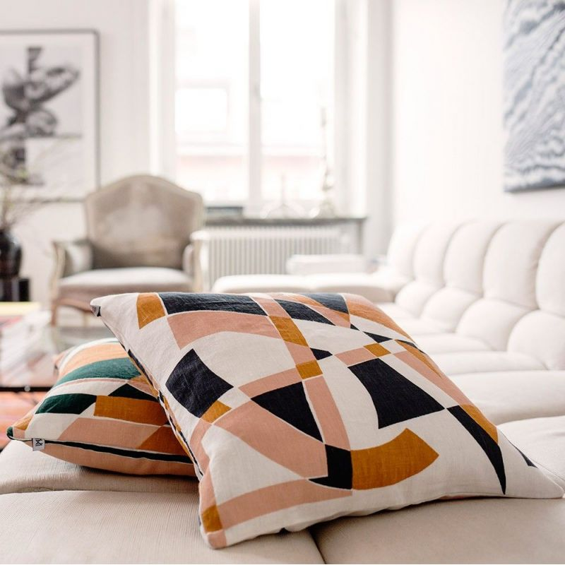jazz cushion by nina kullberg on a sofa