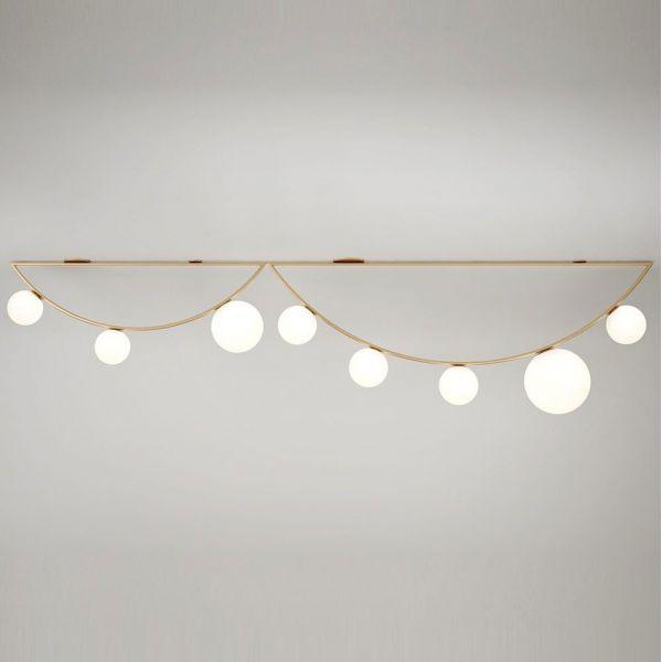 white girlande ceiling light 1M by atelier areti