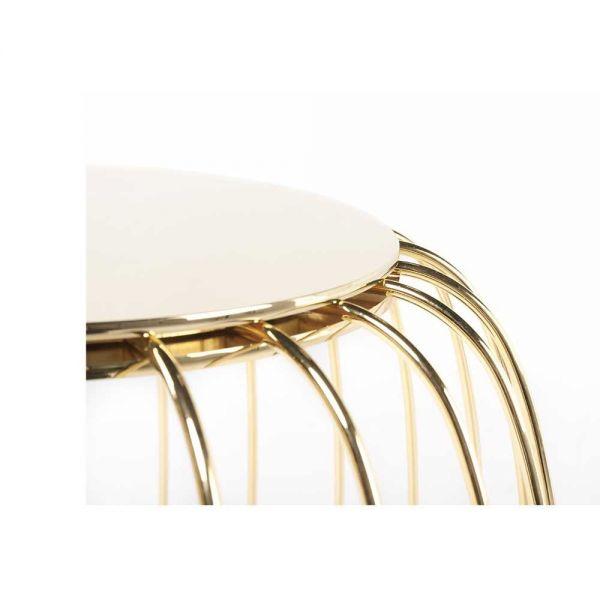 gold pumkin side table by de la espada