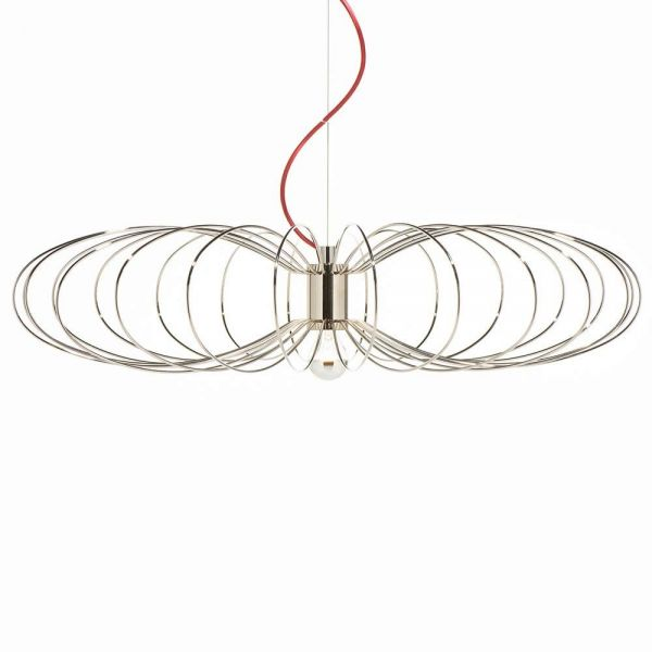 suspension flying spider by de la espada couleur acier